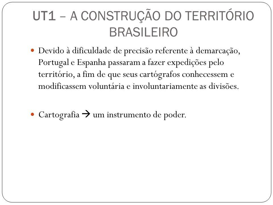 Devido à dificuldade de precisão referente à demarcação, Portugal e Espanha passaram a fazer expedições pelo território, a fim de que seus cartógrafos