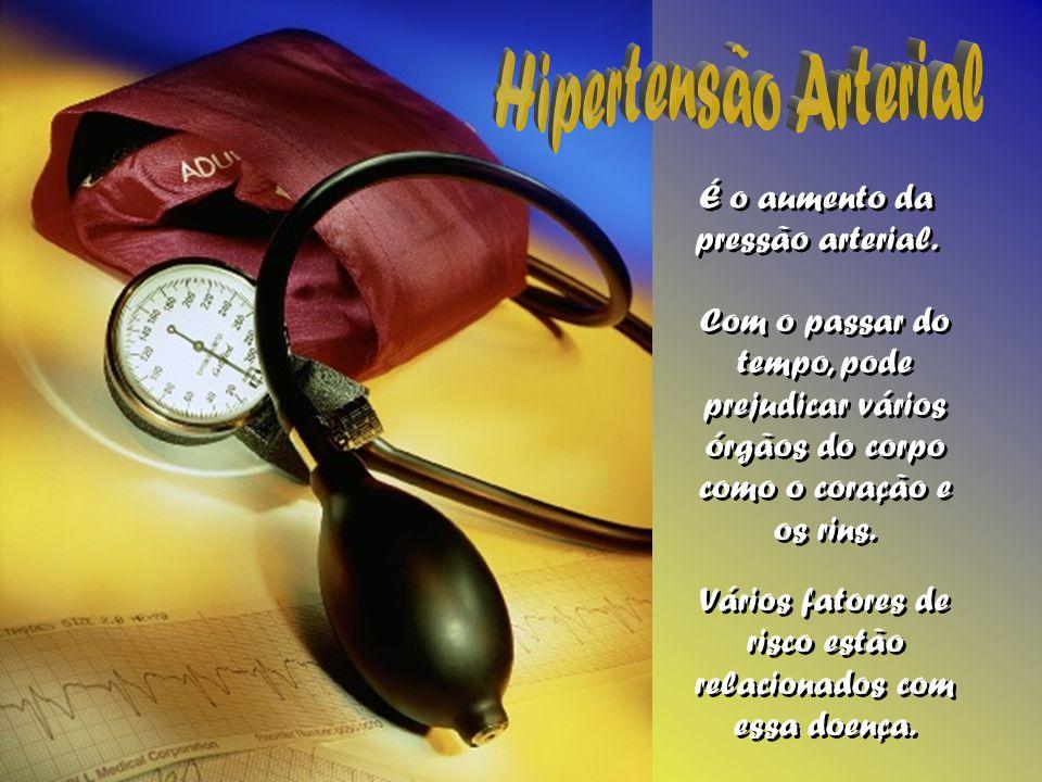 É o aumento da pressão arterial. É o aumento da pressão arterial. Com o passar do tempo, pode prejudicar vários órgãos do corpo como o coração e os ri