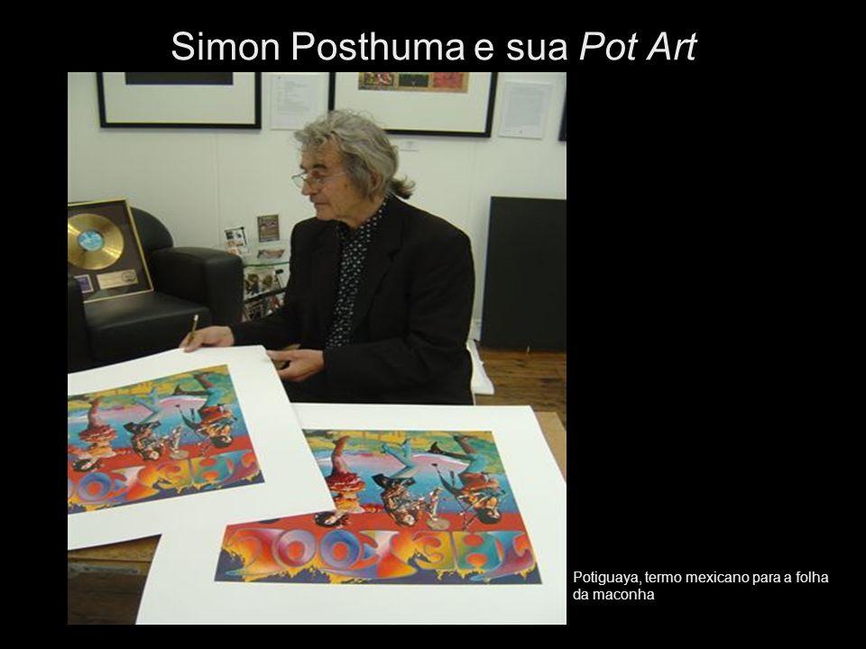 Potiguaya, termo mexicano para a folha da maconha Simon Posthuma e sua Pot Art