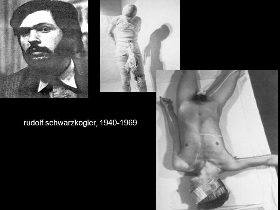 rudolf schwarzkogler, 1940-1969