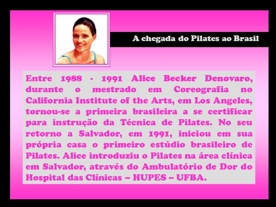 Entre 1988 - 1991 Alice Becker Denovaro, durante o mestrado em Coreografia no California Institute of the Arts, em Los Angeles, tornou-se a primeira b
