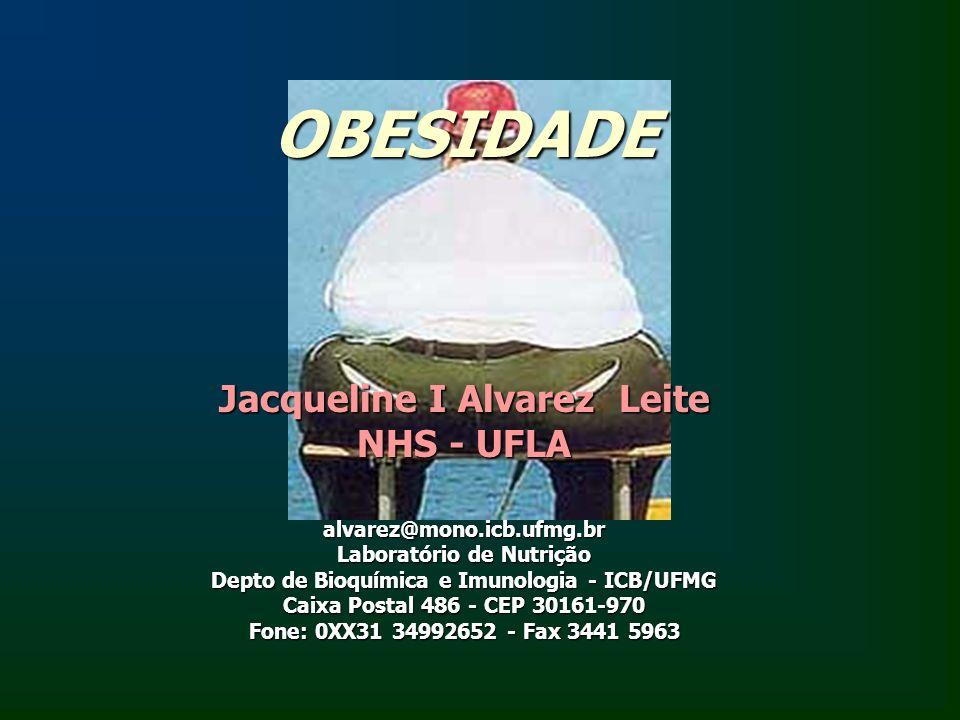 OBESIDADE Jacqueline I Alvarez Leite NHS - UFLA alvarez@mono.icb.ufmg.br Laboratório de Nutrição Depto de Bioquímica e Imunologia - ICB/UFMG Caixa Pos