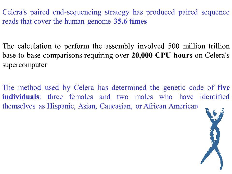 ROCKVILLE, MD, June 26, 2000 CELERA GENOMICS COMPLETES THE FIRST ASSEMBLY OF THE HUMAN GENOME Assembled Genome Has 3.12 Billion Base Pairs Artigo