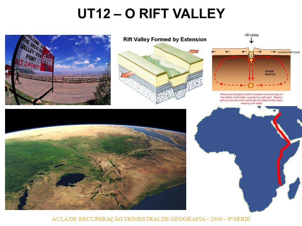 RIFT VALLEY - Formada pela separação das placas africana e arábica a mais de 35 milhões de anos atrás, o Rift Valley se estende desde a Síria, passa p