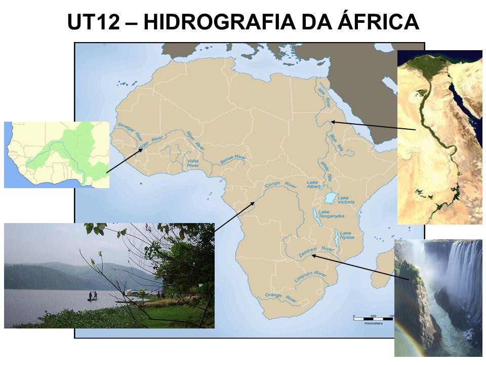 Principais rios do continente africano: Rio Niger Rio Nilo Rio Zambeze Rio Congo UT12 – HIDROGRAFIA DA ÁFRICA
