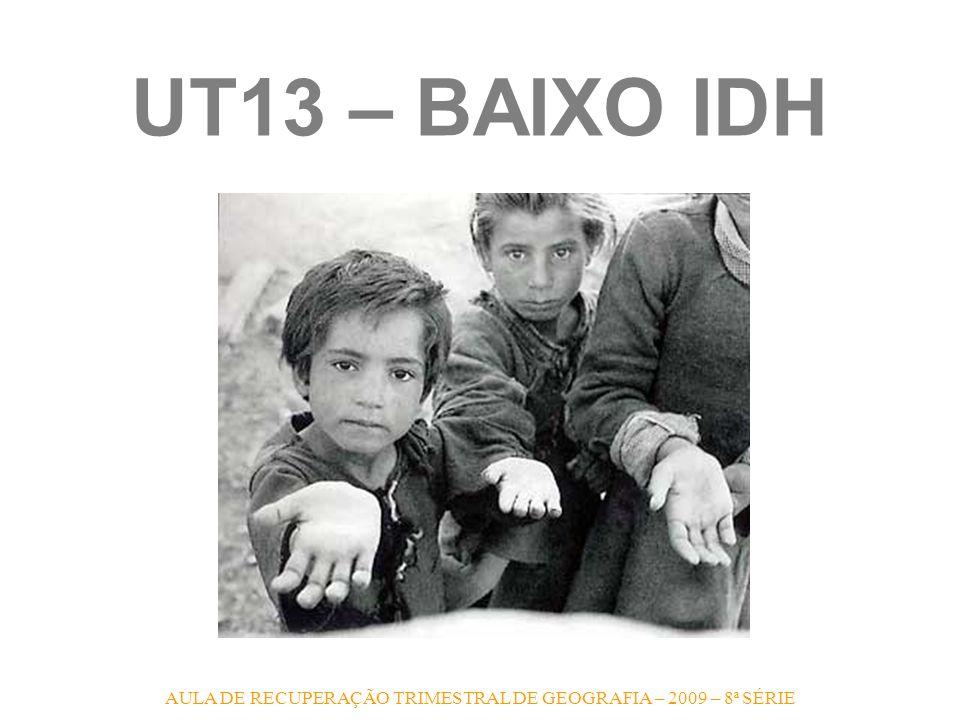 UT13 – BAIXO IDH