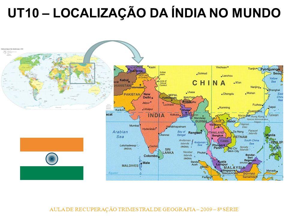 AULA DE RECUPERAÇÃO TRIMESTRAL DE GEOGRAFIA – 2009 – 8ª SÉRIE UT10 – RELEVO INDIANO