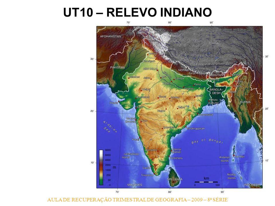 AULA DE RECUPERAÇÃO TRIMESTRAL DE GEOGRAFIA – 2009 – 8ª SÉRIE UT10 – RELEVO INDIANO 1.