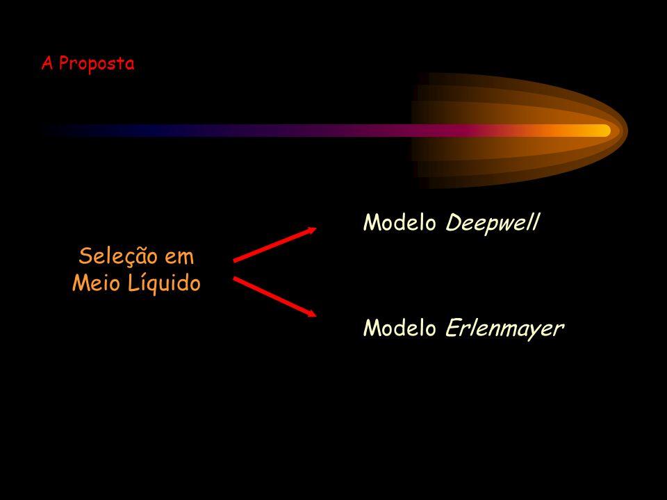 Seleção em Meio Líquido Modelo Deepwell Modelo Erlenmayer A Proposta