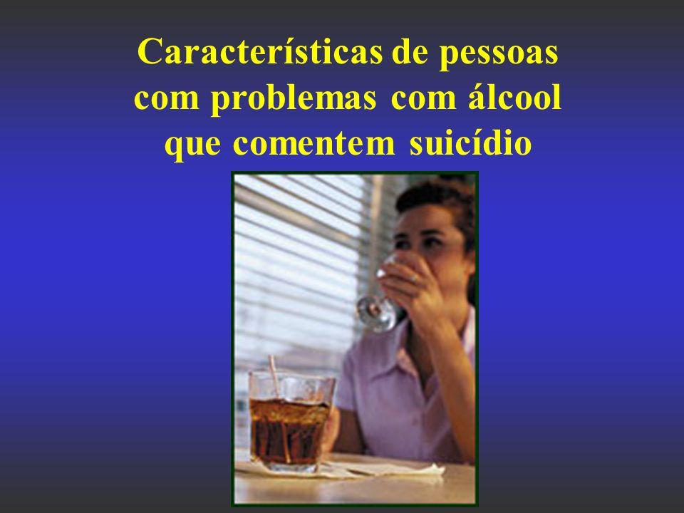 Características de pessoas com problemas com álcool que comentem suicídio