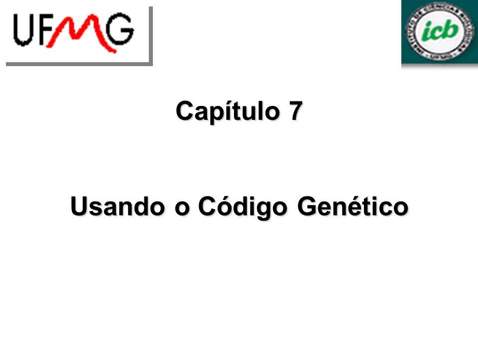 Capítulo 7 Usando o Código Genético