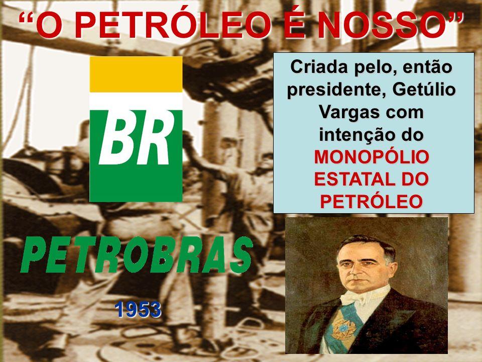 CONSELHO NACIONAL DO PETRÓLEO (CNP) Horta Barbosa, presidente do Conselho Nacional do Petróleo na época -Criada em 1936 por Getúlio Vargas com intuito