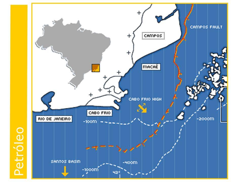 Bacia de Campos(RJ) 1974 -100 mil quilômetros quadrados -Responsável por mais de 80% da produção nacional de petróleo Bacia do Espírito Santo Bacia de