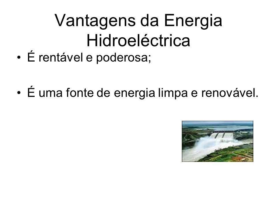 Energia Hidroeléctrica A energia hidroeléctrica é a electricidade produzida através do movimento da água; Constroem-se diques que param o curso da águ