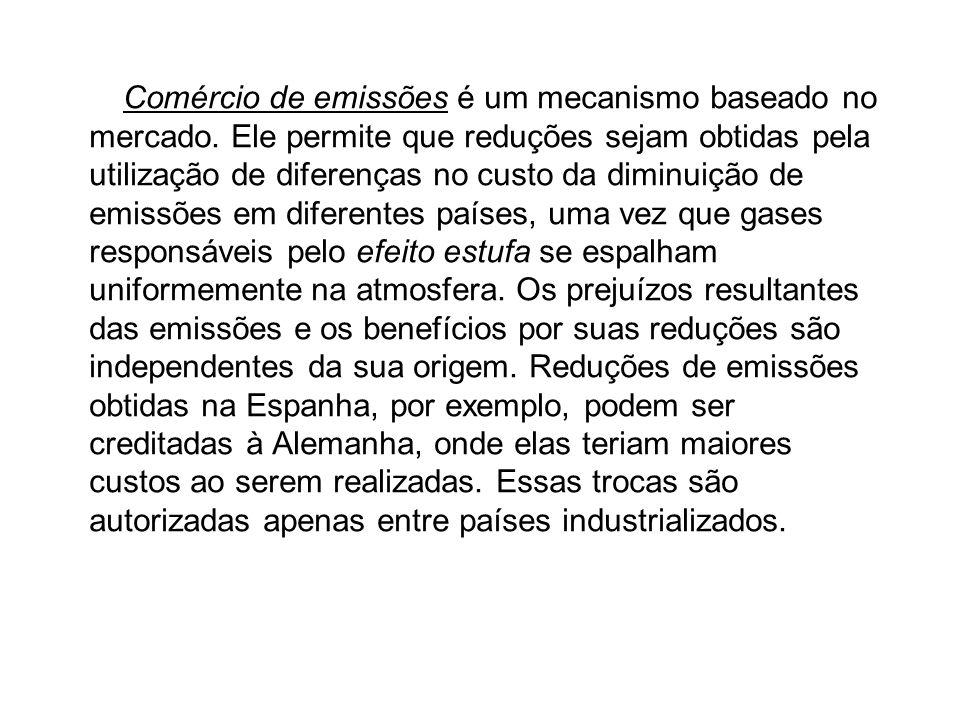 O Protocolo de Quioto, adotado em 1997 e em vigor desde fevereiro de 2005, determinou que os países industrializados que o ratificassem deveriam reduz