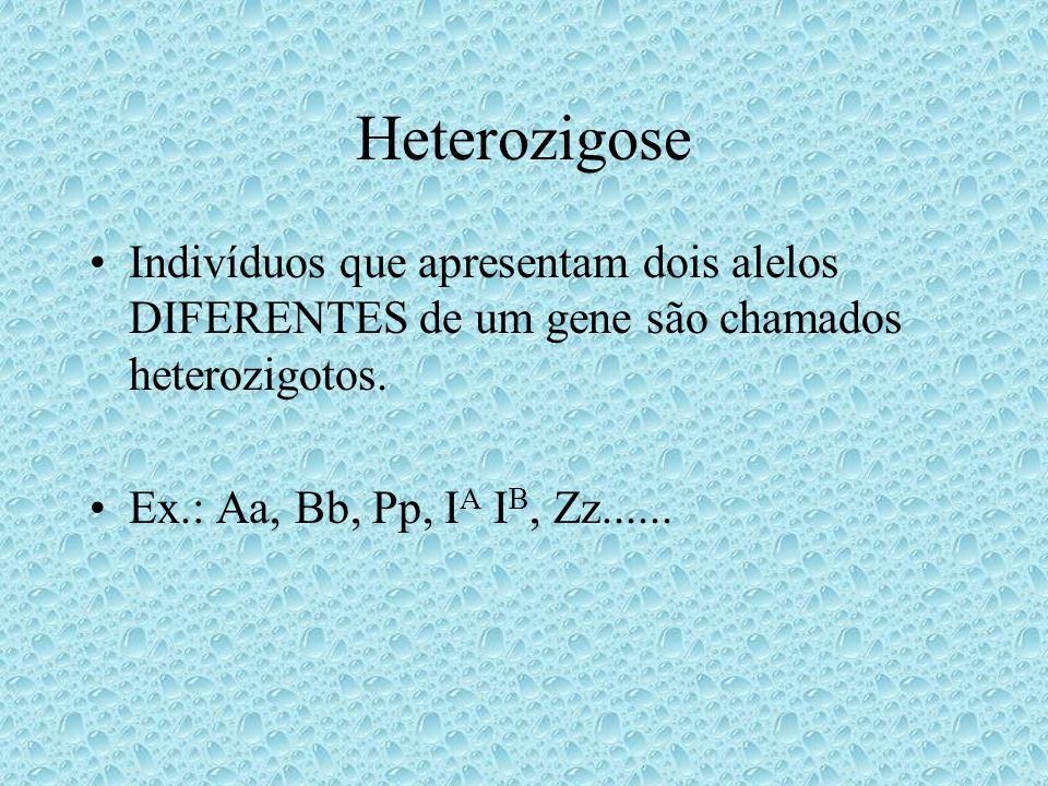 Dominância Alelos que se expressam da mesma forma nas condições homozigótica e heterozigótica são chamados dominantes.