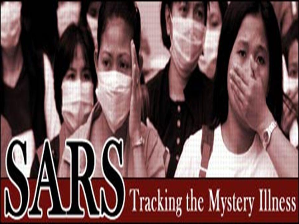 SARS, sigla para Severe Acute Respiratory Syndrome ou SRAG, sigla para Síndrome Respiratória Aguda Grave.