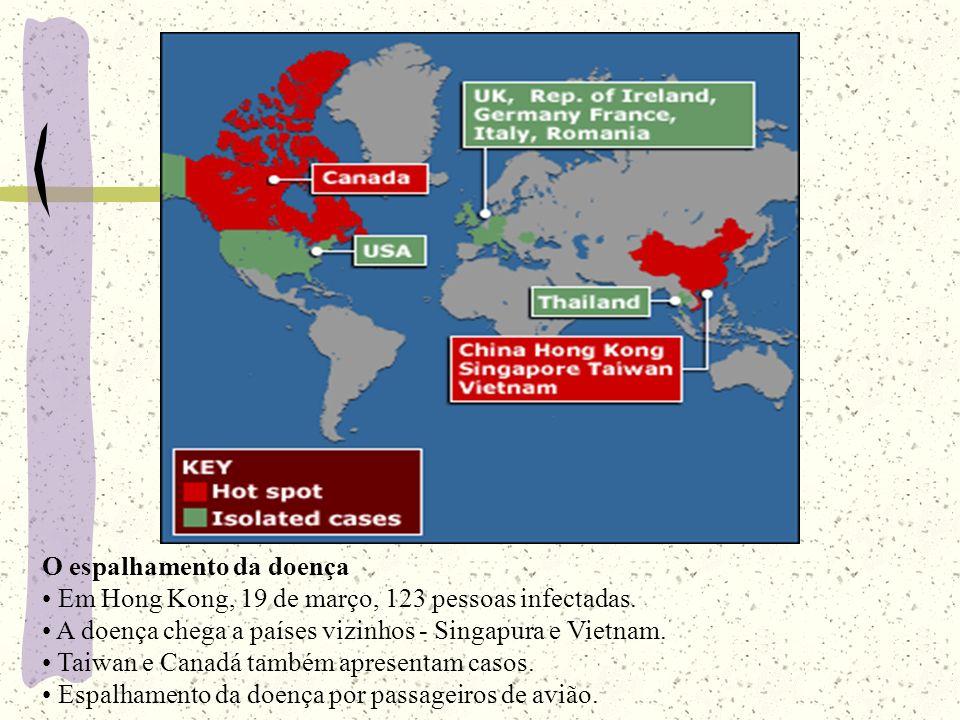 Mais casos 1ª semana de abril - 1700 pessoas infectadas. 62 mortes em 16 países.