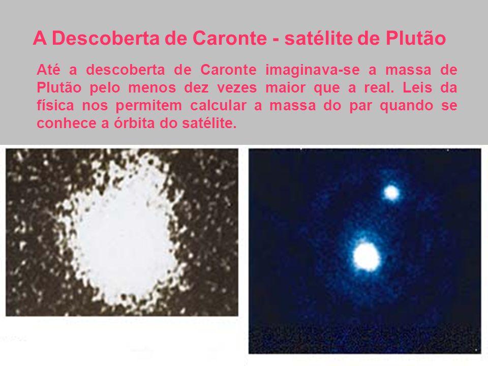 Até a descoberta de Caronte imaginava-se a massa de Plutão pelo menos dez vezes maior que a real. Leis da física nos permitem calcular a massa do par