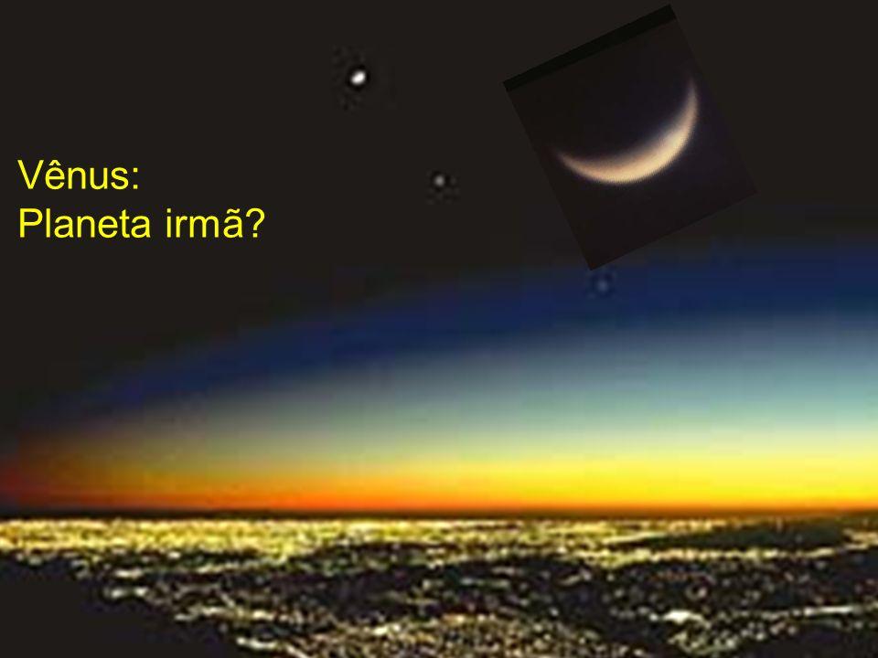 - segundo planeta mais próximo do Sol (0.7 AU) - tamanho mais semelhante ao da Terra: diâmetro = 0.95 do da Terra - período orbital (ano em Vênus): 226 dias - gravidade: 0.9 da terrestre - temperatura de dia: até 470 graus ºC.