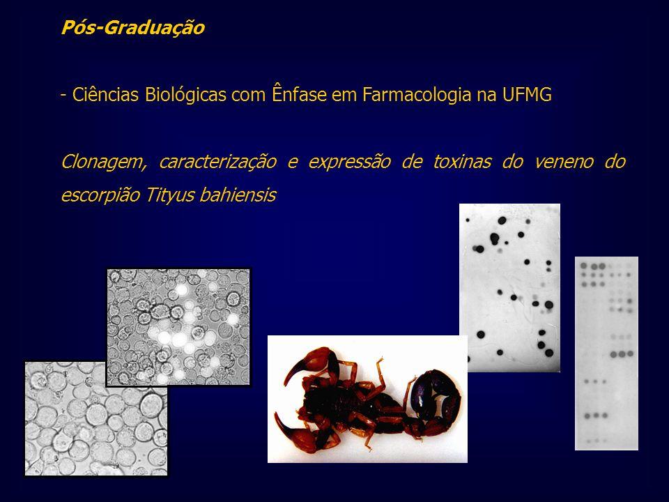 Pós-Graduação - Ciências Biológicas com Ênfase em Farmacologia na UFMG Clonagem, caracterização e expressão de toxinas do veneno do escorpião Tityus b
