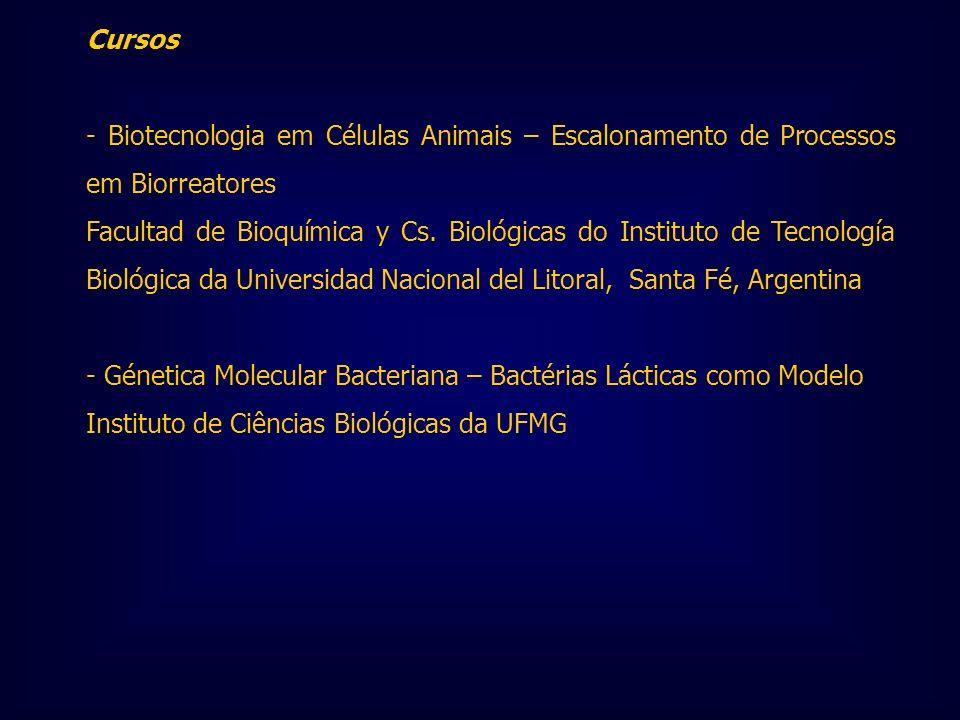 Cursos - Biotecnologia em Células Animais – Escalonamento de Processos em Biorreatores Facultad de Bioquímica y Cs. Biológicas do Instituto de Tecnolo