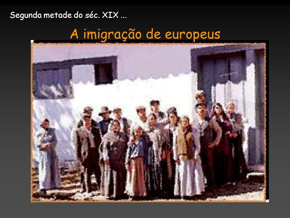 Segunda metade do séc. XIX... A imigração de europeus