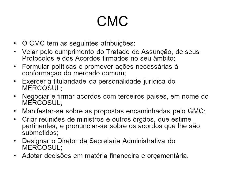GMC b) Grupo Mercado Comum – GMC, órgão executivo que toma as providências necessárias ao cumprimento das decisões adotadas pelo Conselho e fixa programas de trabalho que assegurem avanços para o estabelecimento do Mercado Comum.