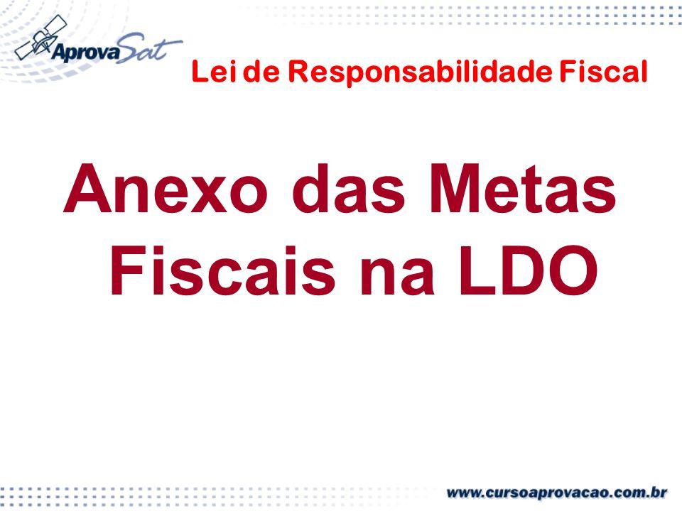 Lei de Responsabilidade Fiscal Anexo das Metas Fiscais na LDO