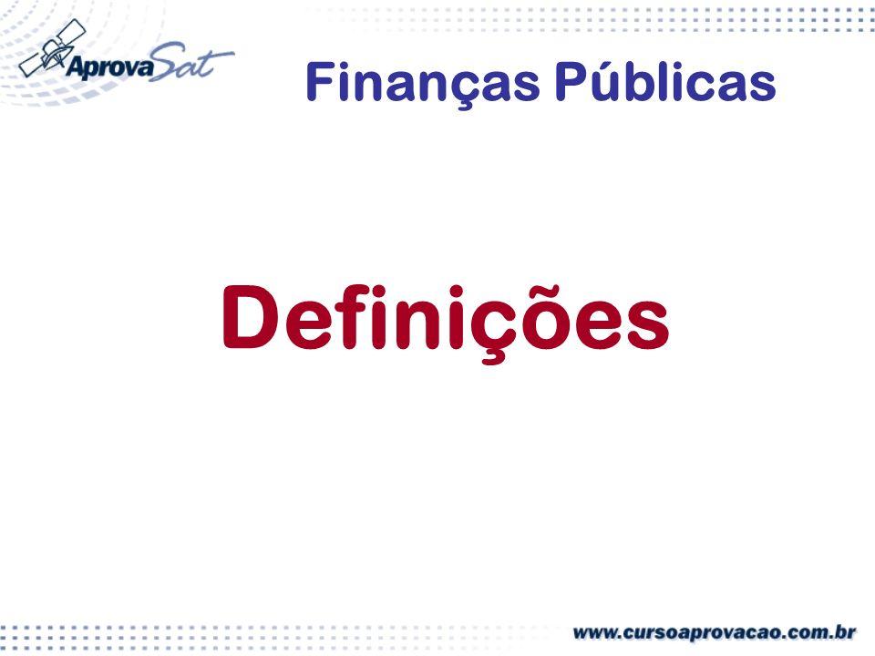 Definições Finanças Públicas