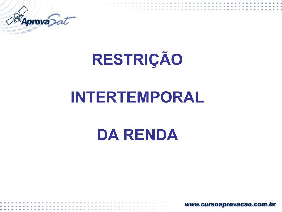 RESTRIÇÃO INTERTEMPORAL DA RENDA