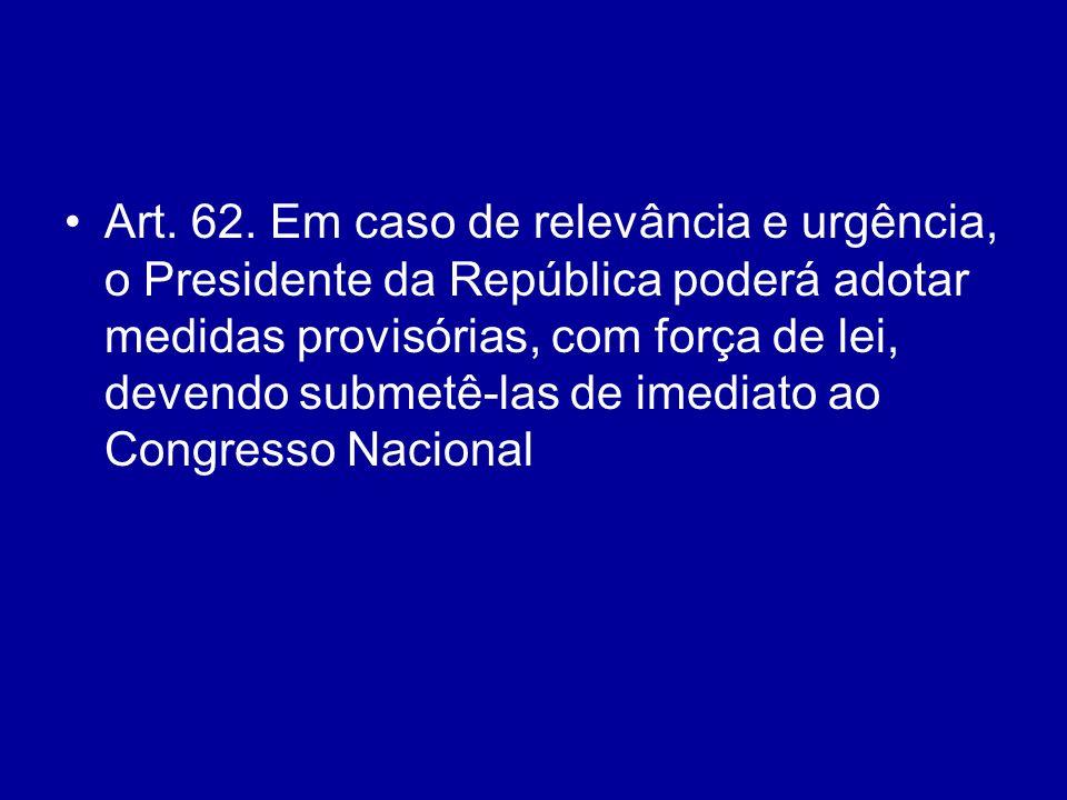 § 1º É vedada a edição de medidas provisórias sobre matéria: (Incluído pela Emenda Constitucional nº 32, de 2001)(Incluído pela Emenda Constitucional nº 32, de 2001) I - relativa a: (Incluído pela Emenda Constitucional nº 32, de 2001)(Incluído pela Emenda Constitucional nº 32, de 2001) a) nacionalidade, cidadania, direitos políticos, partidos políticos e direito eleitoral; (Incluído pela Emenda Constitucional nº 32, de 2001)(Incluído pela Emenda Constitucional nº 32, de 2001) b) direito penal, processual penal e processual civil; (Incluído pela Emenda Constitucional nº 32, de 2001)(Incluído pela Emenda Constitucional nº 32, de 2001) c) organização do Poder Judiciário e do Ministério Público, a carreira e a garantia de seus membros; (Incluído pela Emenda Constitucional nº 32, de 2001)(Incluído pela Emenda Constitucional nº 32, de 2001)