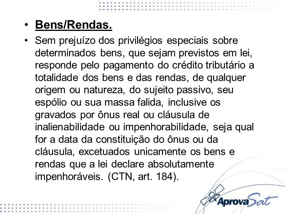 Bens/Rendas.