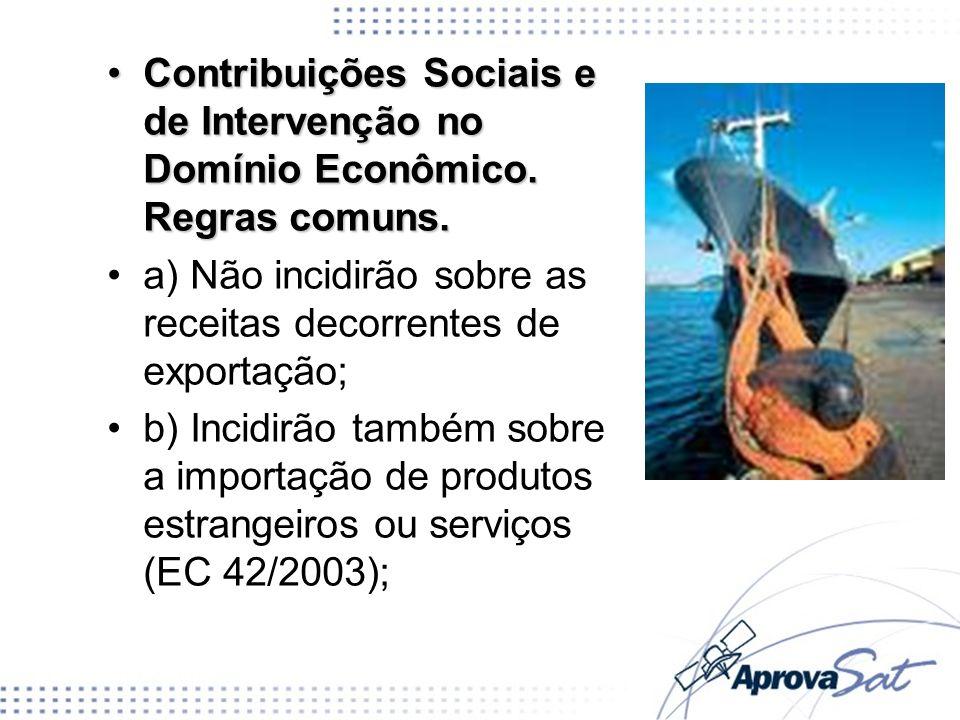 Contribuições Sociais e de Intervenção no Domínio Econômico. Regras comuns.Contribuições Sociais e de Intervenção no Domínio Econômico. Regras comuns.