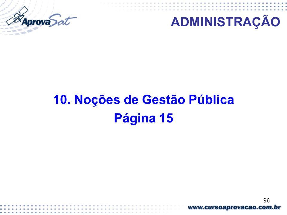 96 ADMINISTRAÇÃO 10. Noções de Gestão Pública Página 15