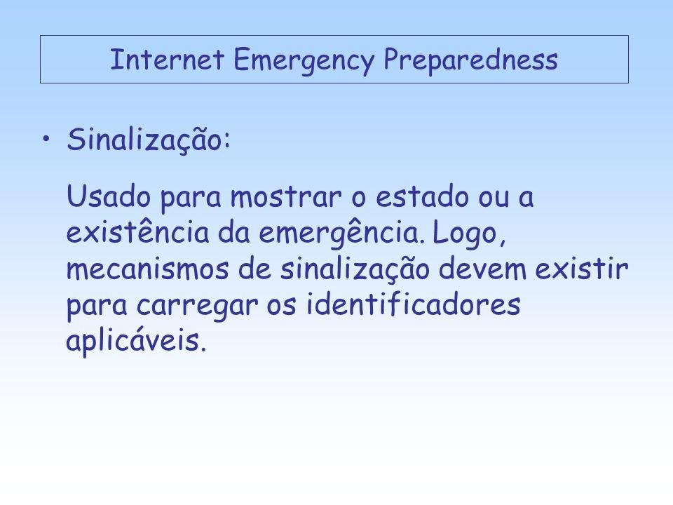Sinalização: Usado para mostrar o estado ou a existência da emergência.