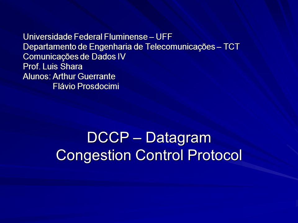 Universidade Federal Fluminense – UFF Departamento de Engenharia de Telecomunicações – TCT Comunicações de Dados IV Prof. Luis Shara Alunos:Arthur Gue