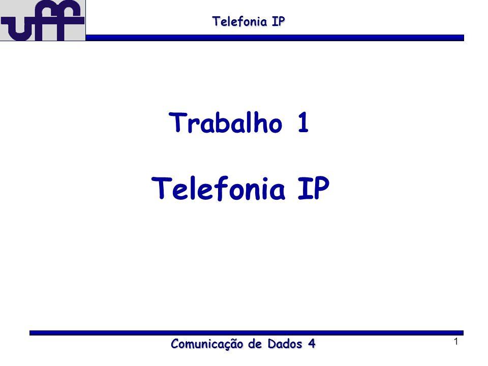 1 Comunicação de Dados 4 Telefonia IP Trabalho 1 Telefonia IP