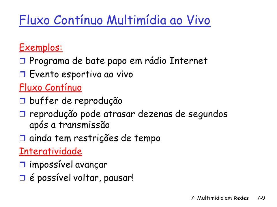 7: Multimídia em Redes7-100 RSVP Design Goals 1.