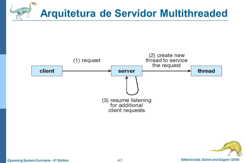 4.18 Silberschatz, Galvin and Gagne ©2009 Operating System Concepts – 8 th Edition Algumas questões de threads….