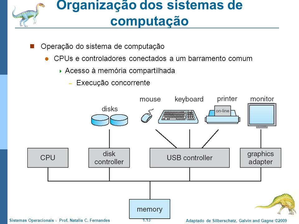 1.13 Adaptado de Silberschatz, Galvin and Gagne ©2009 Sistemas Operacionais - Prof. Natalia C. Fernandes Organização dos sistemas de computação Operaç
