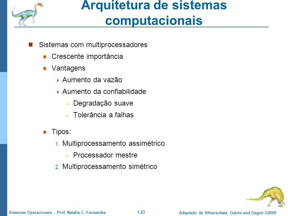 1.23 Adaptado de Silberschatz, Galvin and Gagne ©2009 Sistemas Operacionais - Prof. Natalia C. Fernandes Arquitetura de sistemas computacionais Sistem