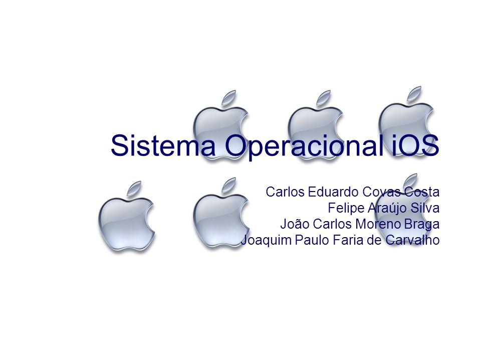 Sistema Operacional iOS Carlos Eduardo Covas Costa Felipe Araújo Silva João Carlos Moreno Braga Joaquim Paulo Faria de Carvalho