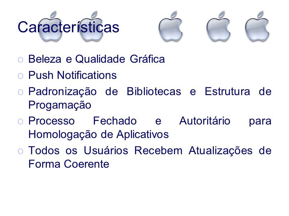 Chamadas de Sistemas Exemplos de Códigos: O iOS é escrito em Objective-C que É uma Linguagem Orientada a Objetos, Utilizada, Também, nos Frameworks Superiores do Mac OS X.