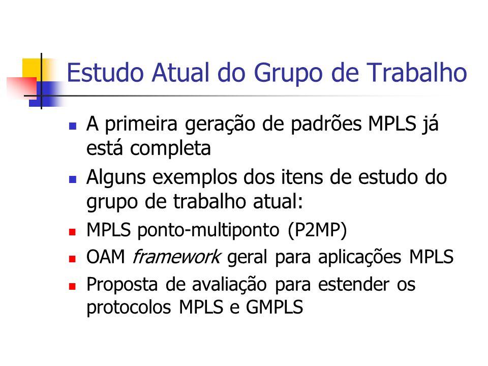 Ponto - Multiponto Definir requerimentos, mecanismos e extensões de protocolos para MPLS ponto- multiponto (P2MP);