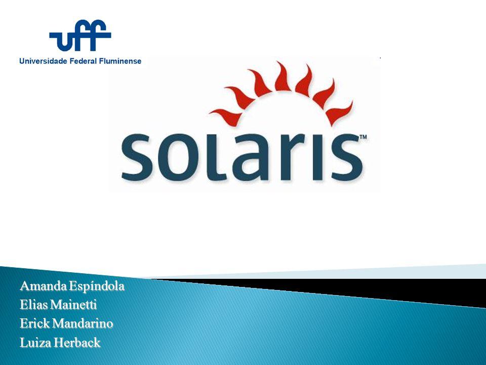 Tipos de arquivos implementados pelo Solaris: o Arquivos regulares: possuem qualquer dado inserido pelo usuário.