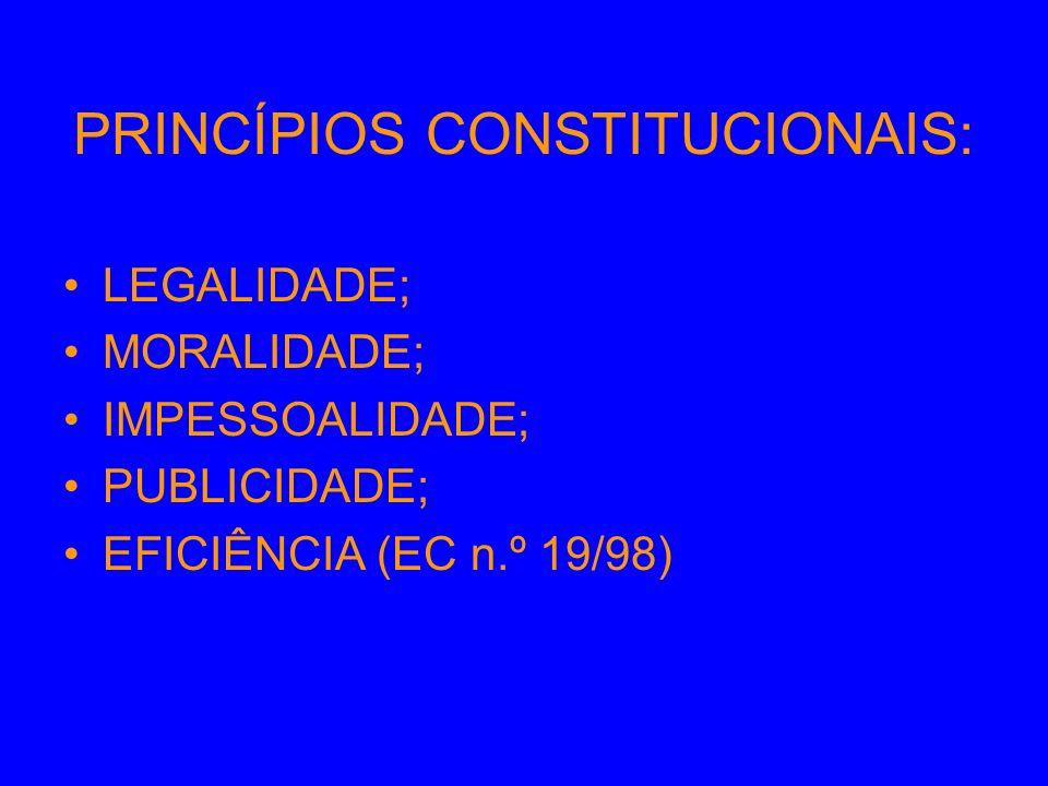 * PRINCÍPIO DA LEGALIDADE: Na administração pública não há liberdade nem vontade pessoal.