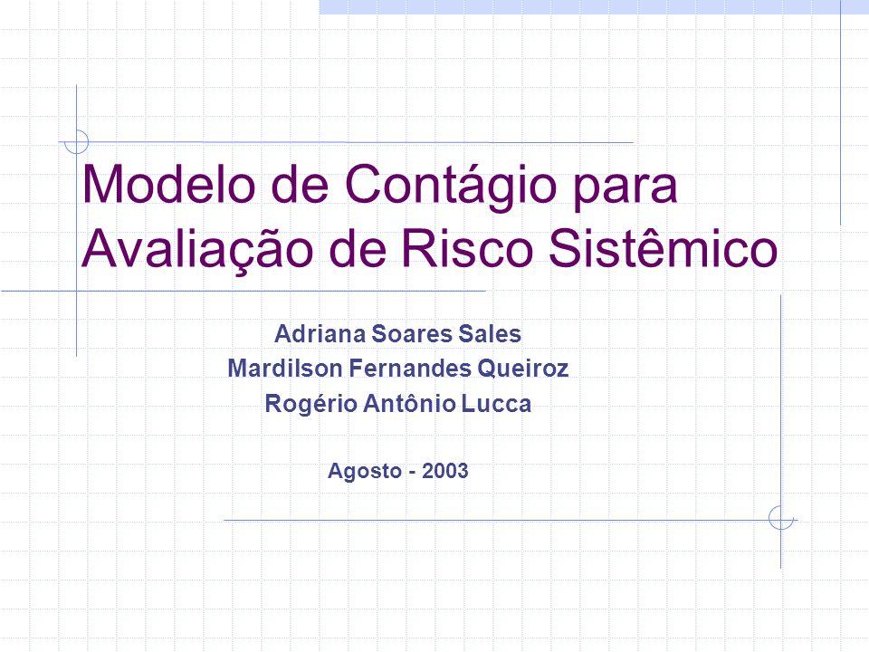 Modelo de Contágio para Avaliação de Risco Sistêmico Adriana Soares Sales Mardilson Fernandes Queiroz Rogério Antônio Lucca Agosto - 2003
