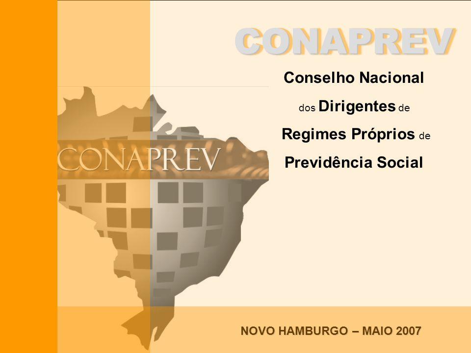 Conselho Nacional dos Dirigentes de Regimes Próprios de Previdência Social CONAPREVCONAPREV Conselho Nacional dos Dirigentes de Regimes Próprios de Pr