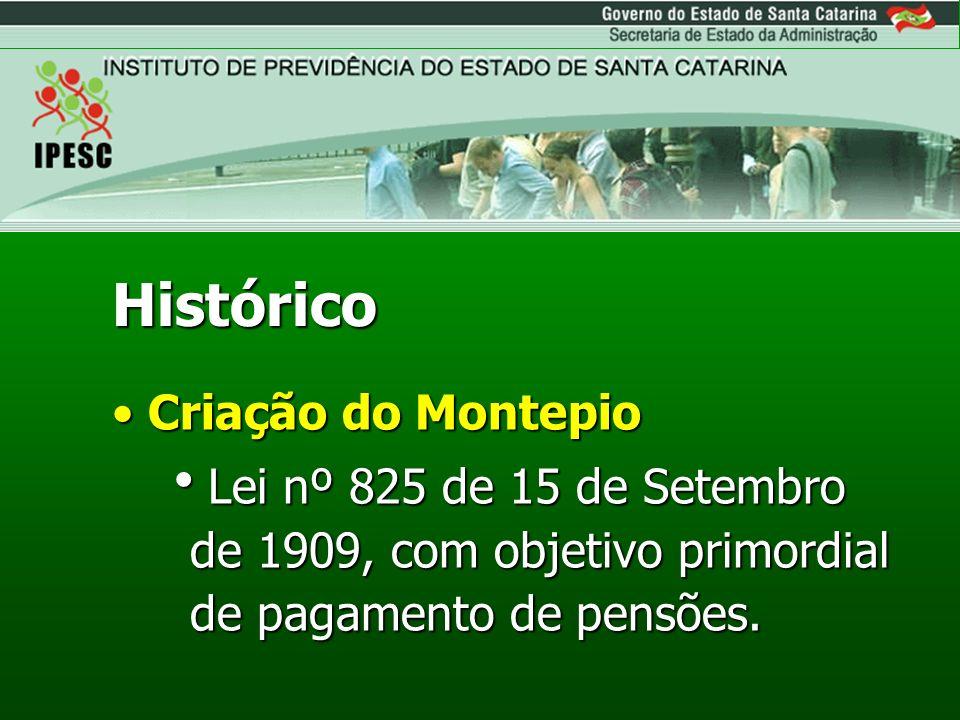 Criação do IPESCCriação do IPESC Lei nº 3.138 de 11 de Dezembro de 1962, que transformou o antigo Montepio em uma Autarquia.